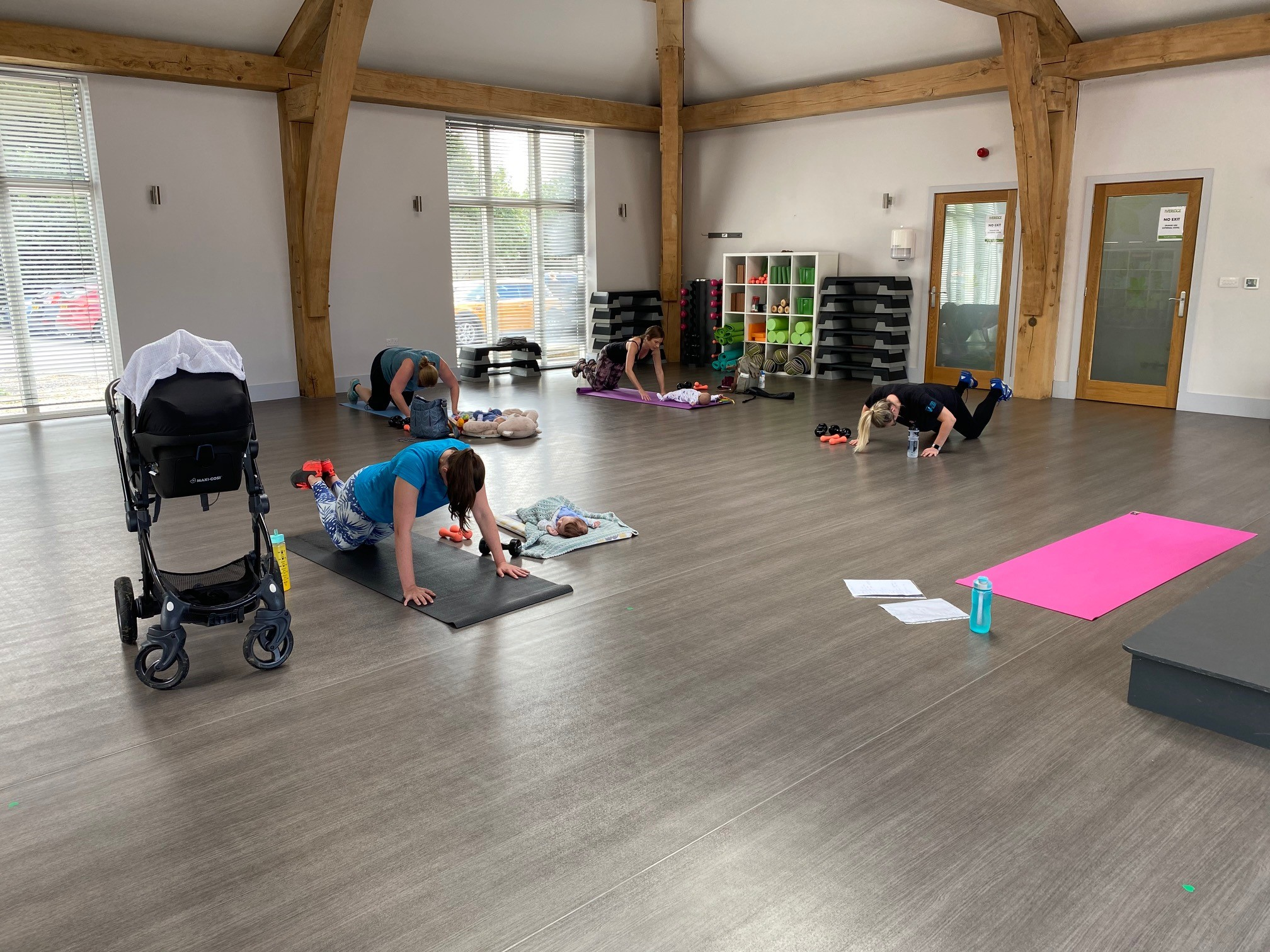 mum and baby fitness class